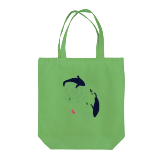 PONPONの水面 Tote bags