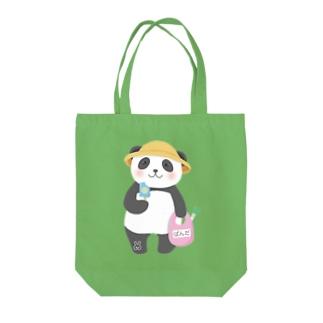 夏パンダ Tote bags