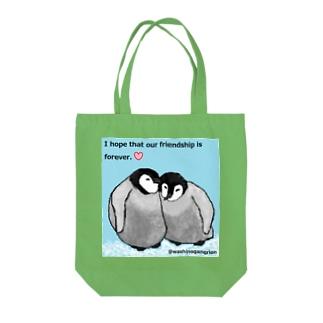 ペンギンの友だち Tote bags