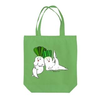 シュールなセクシー野菜3 Tote bags