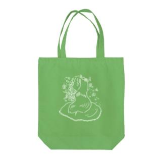 しらゆき Tote bags