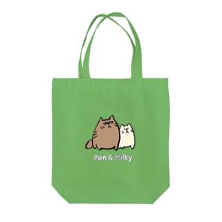 Pon & Milky Tote bags