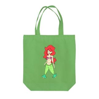 マリンナちゃん(たて) Tote bags