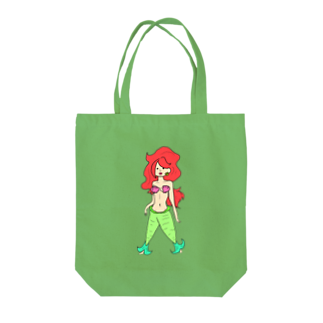 Miyuki_Sakagamiのマリンナちゃん(たて) Tote bags