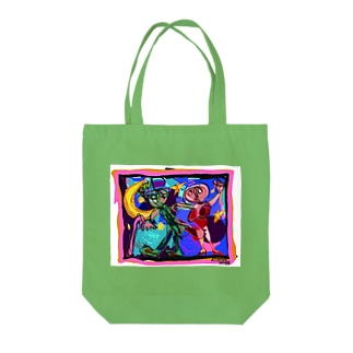 in the nightシリーズ Tote bags