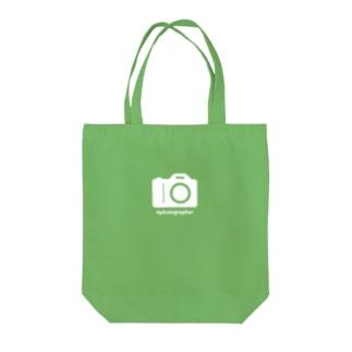 photographer(白文字) Tote bags