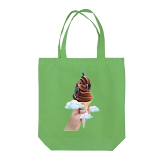 ice creamountain Tote bags