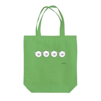 しろくま4匹 Tote bags