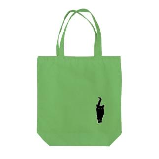 ねこシルエット Tote bags