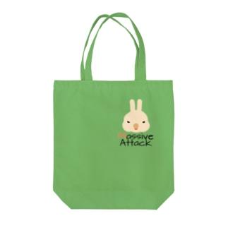 Massive Attack Bunny Tote bags