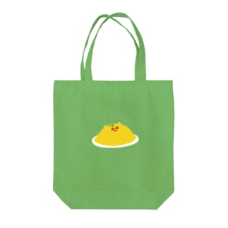 シロメネコオムレツ Tote bags