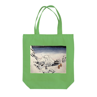 SJMavisのArt of Buddhism and Shintoism and Two Paths in the snow Tote bags