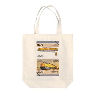 ネイビスの切手・鉄道切手 ディーゼル機関車 トートバッグ