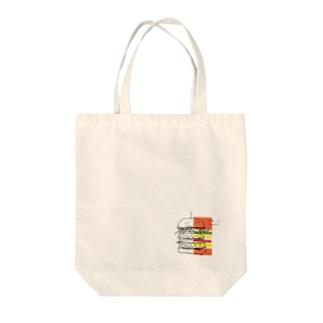 s カラー1/2 バーガー Tote bags