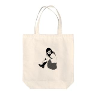 女子高生あ Tote bags