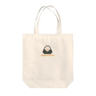 おむすび+ツナ(アイロンビーズ風ドット絵) Tote bags