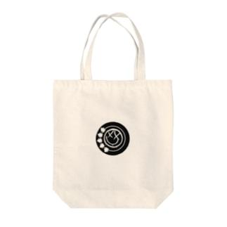 black smiley Tote bags