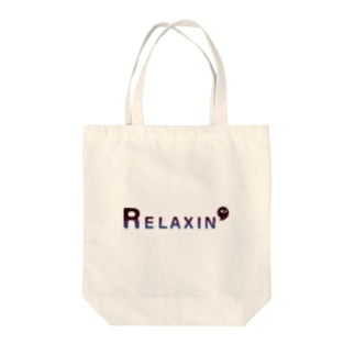 RELAXIN' Tote bags