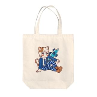 猫男子 Tote bags
