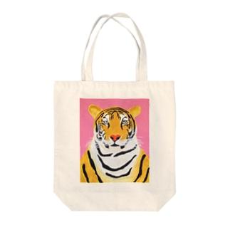 トラ Tote bags