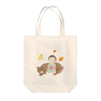のんちゃんと絵本 Tote bags