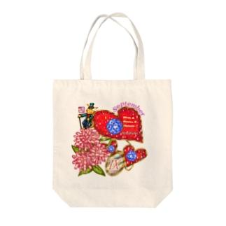 「花籠」Series * Birth09 September Tote bags
