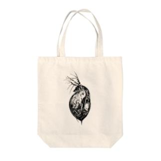 ミジンコさん Tote bags