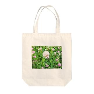 ハリネズミのビジュー(フラワー) Tote bags