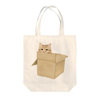 にゃべしっ にゃんボール Tote bags