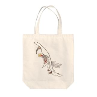 百鬼夜行絵巻 八乙女【絵巻物・妖怪・かわいい】 Tote bags
