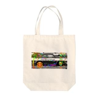 楽描 Tote bags