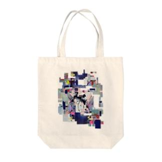 I/O コラージュ Tote bags