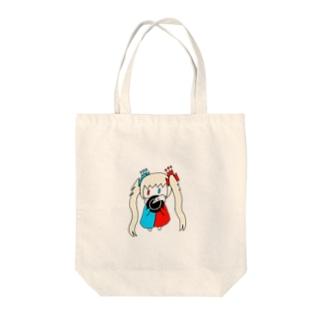 ゆるゆるゆぅちゃん Tote bags