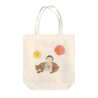 のんちゃんガーベラ Tote bags