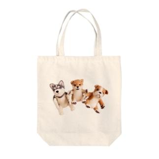 ワンワンワン Tote bags