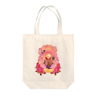 少女アリス-(白) Tote bags