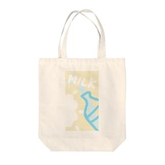 MILK Tote bags