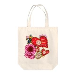 「花籠」Series * Birth10 October Tote bags