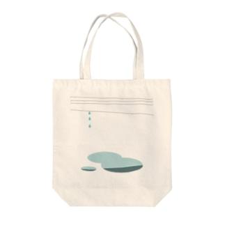 水たまりと電線_0223 Tote bags