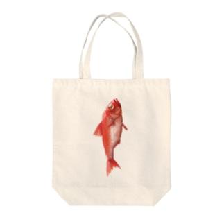 キンメダイ Tote bags