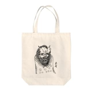JUNSEN(純仙)唐獅子 平成の夜風を浴びて 単色 Tote bags
