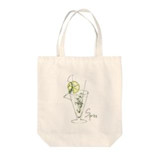 スプライト Tote bags