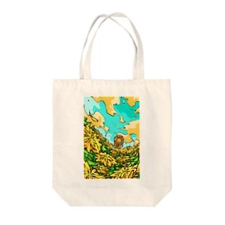 ダンデライオン Tote bags