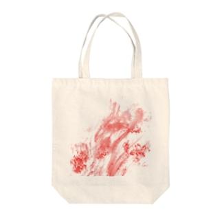 血まみれ Tote bags