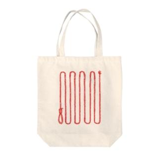 くびつりなわ Tote bags