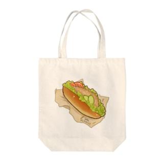 ヘッジドッグ Tote bags