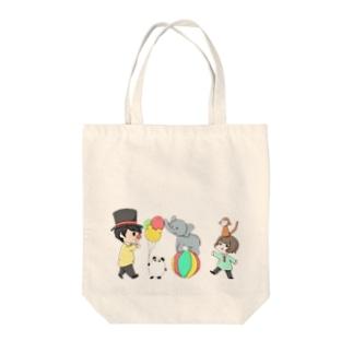 だぁ兄withりさ丸 Tote bags