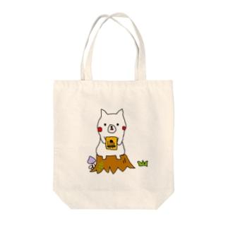 シロさんとカリンバ Tote bags