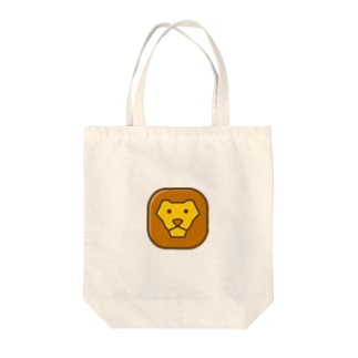 Savanna lion face トートバッグ