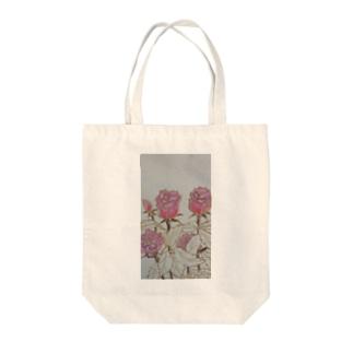 Pink Rose Tote bags